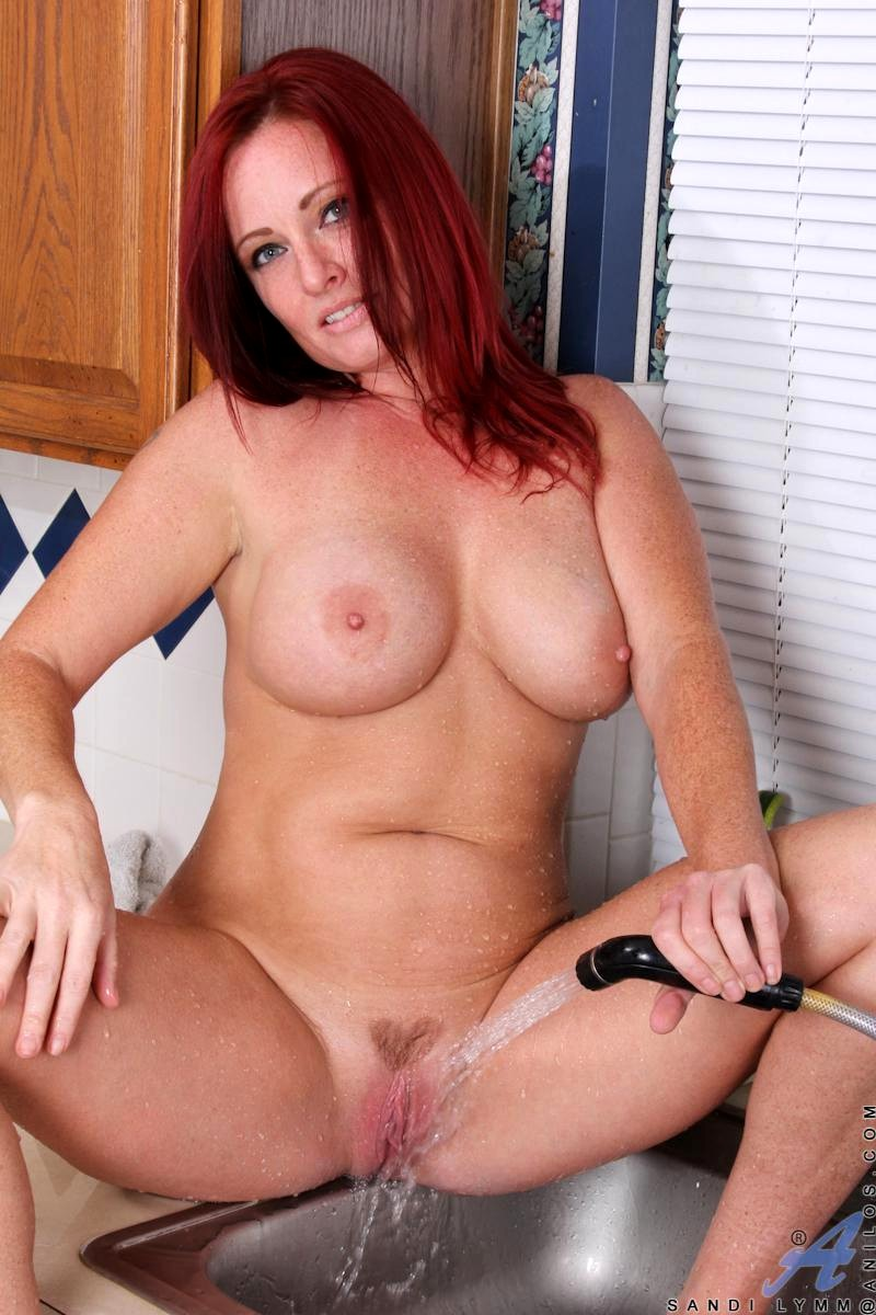 Redhead milf anal threesome