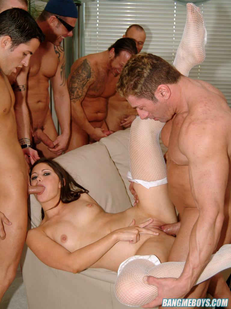 Секс с шести мужиками рассказ ебля