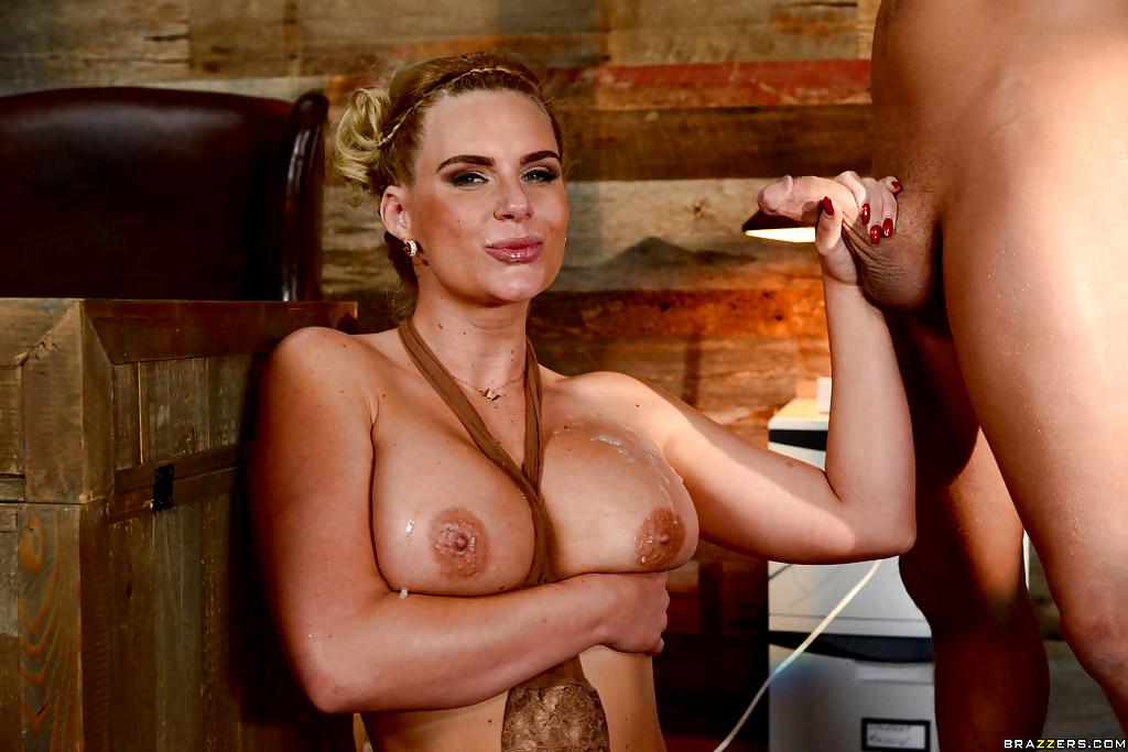 Porn star phoenix marie jerking off lucky handjob winner paul