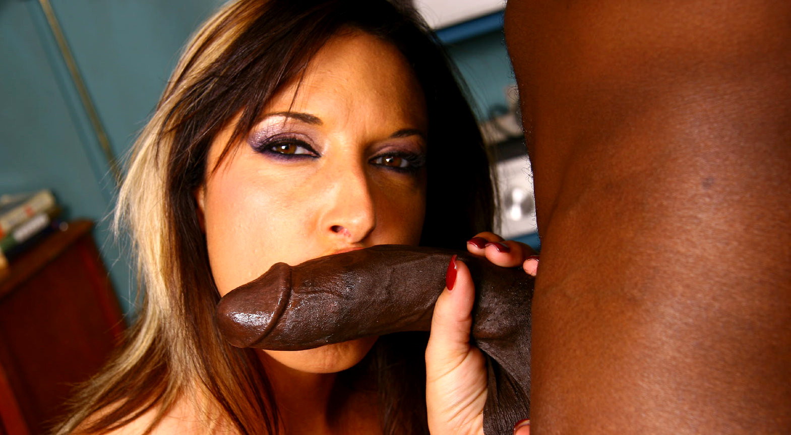 Watch rare interracial scene of fiona cheeks
