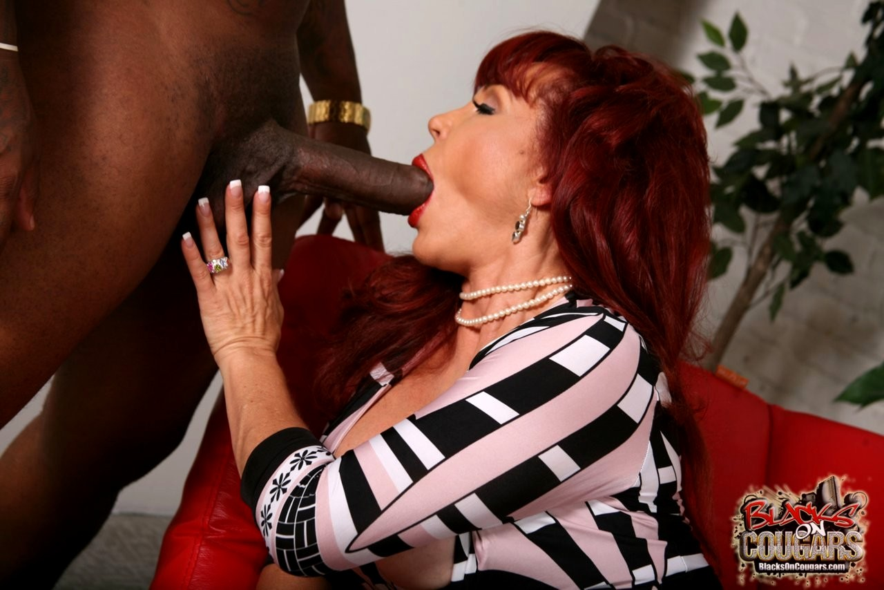 Old Redhead Granny Is Placing Her Lips On A Cock So She Could Suck It