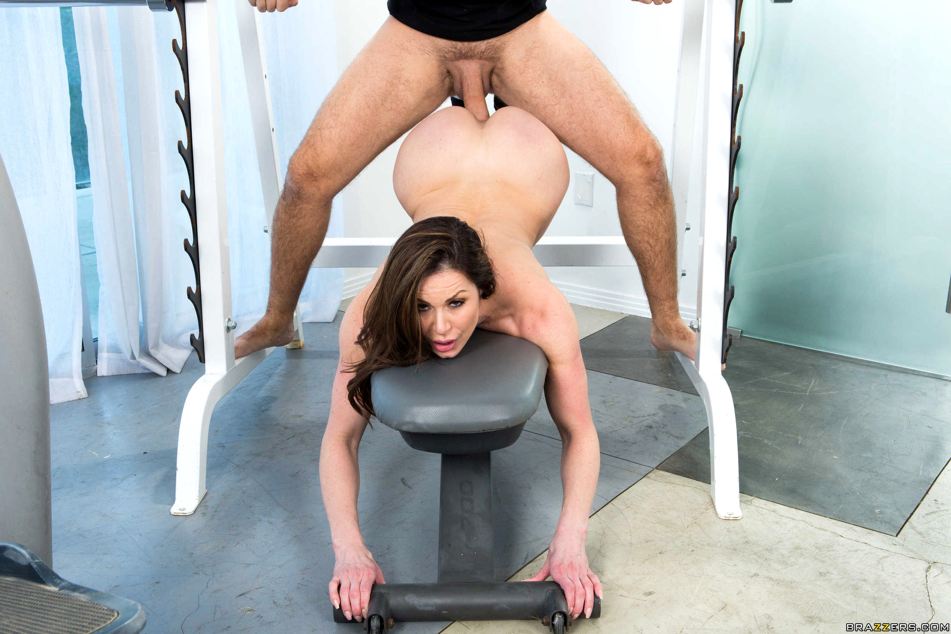 Sex with the wife on the workout bench