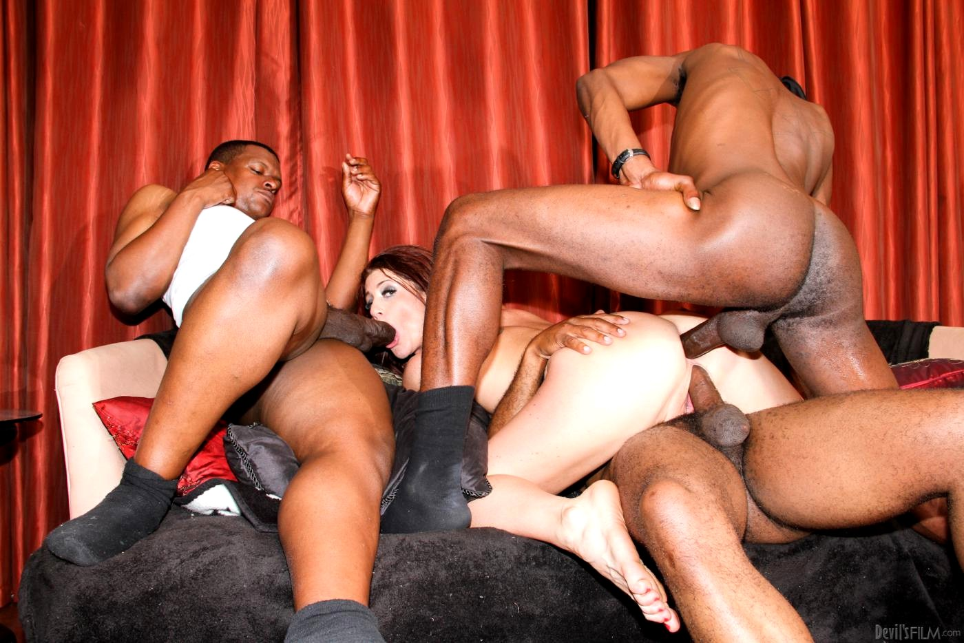 Kelly divine interracial orgy