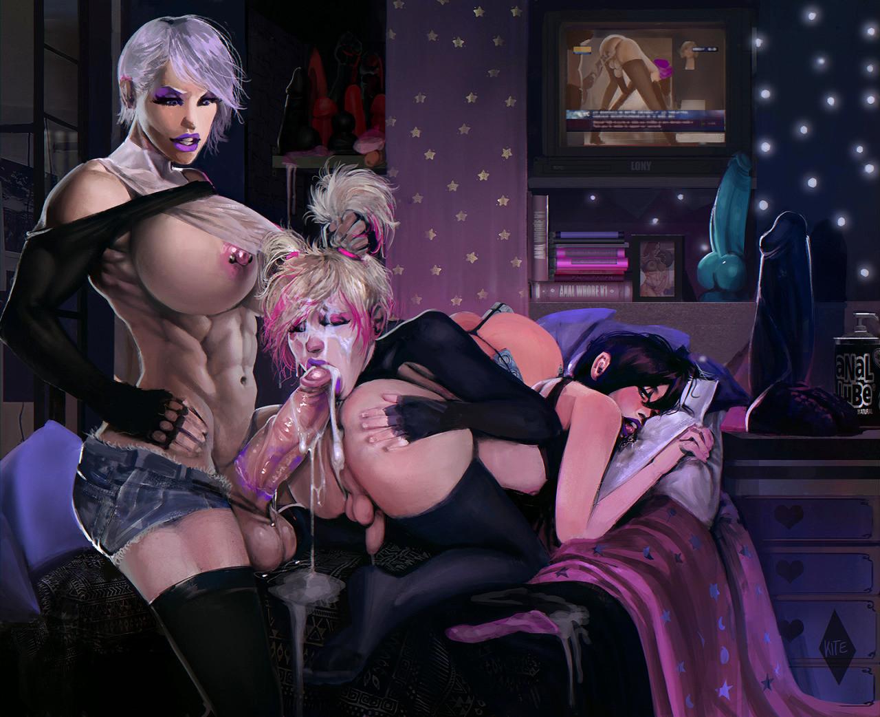 Hardcore Hentai Shemale Orgy