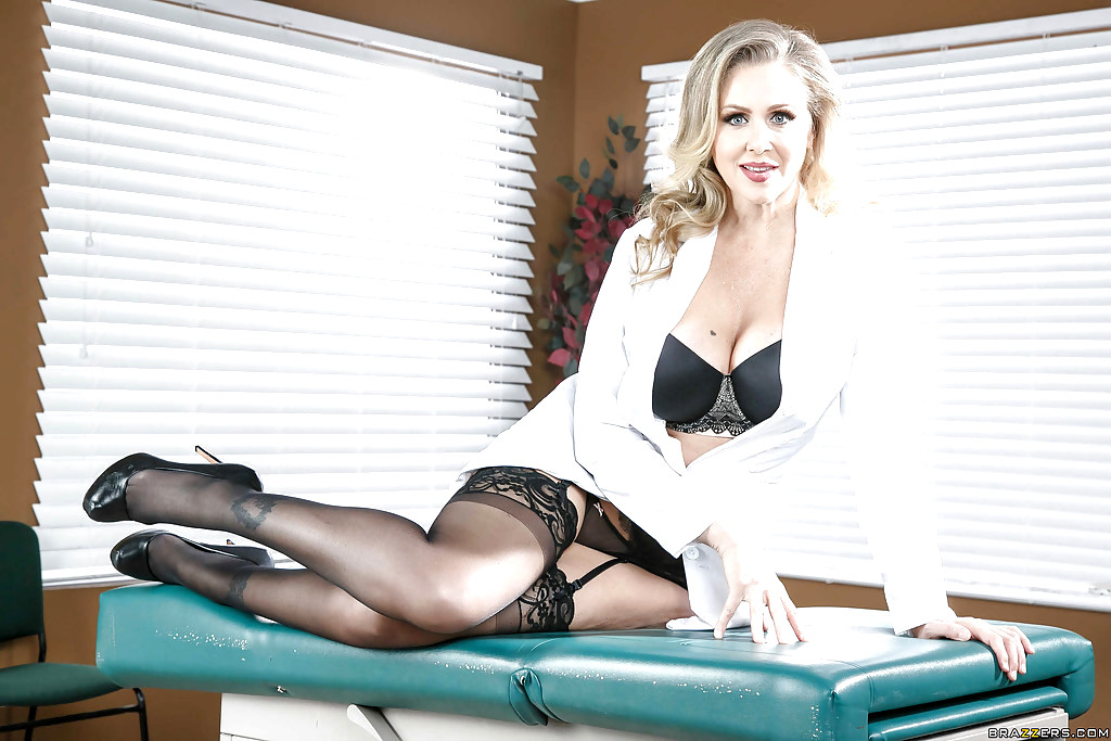 Big meloned milf julia ann officer her pussy to guy after she takes off her office suit and undies