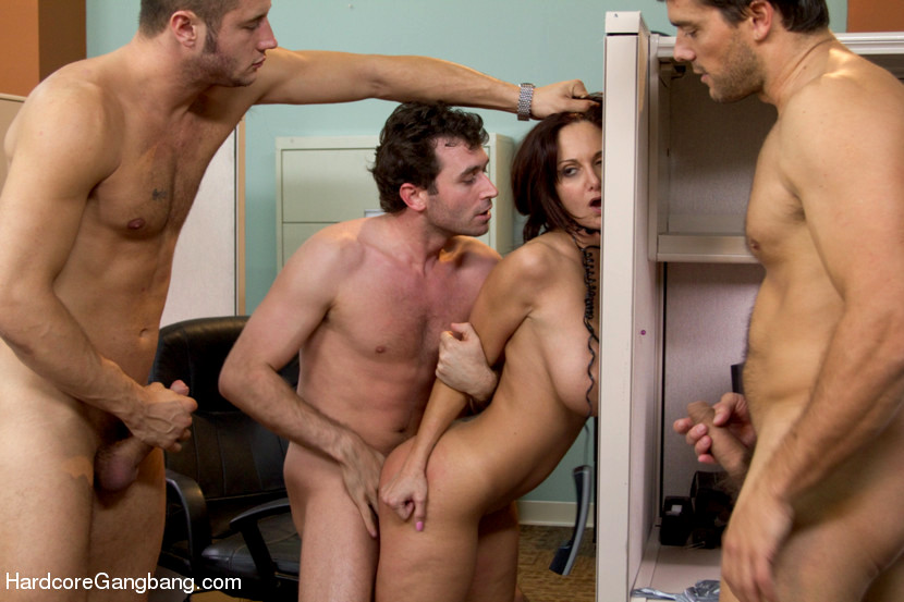Rough Double Vaginal Gangbang