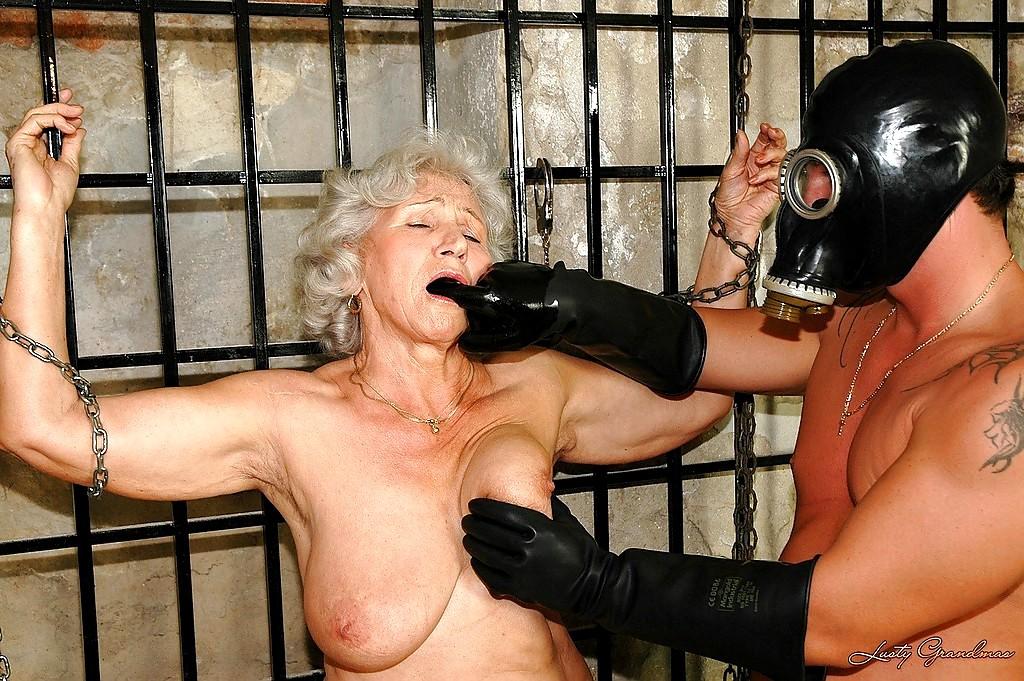 Very old granny bondage
