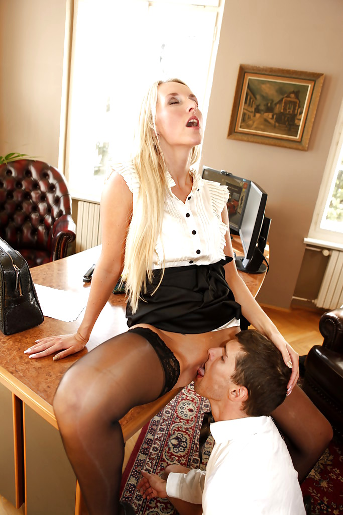 India summer and sunny lane licking in the office