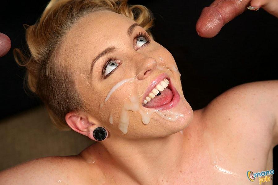 Miley Cyrus Double Handjob And Facial Cumshot