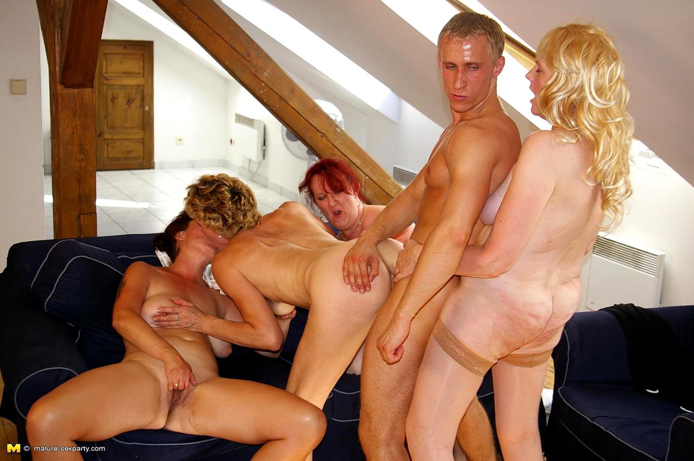 Bbw Mature Interracial Orgy
