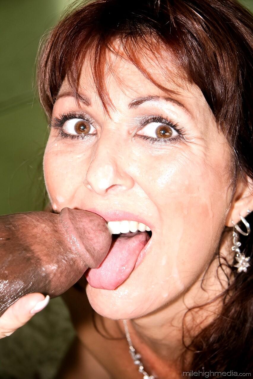 Mature Wife Tongue Cum