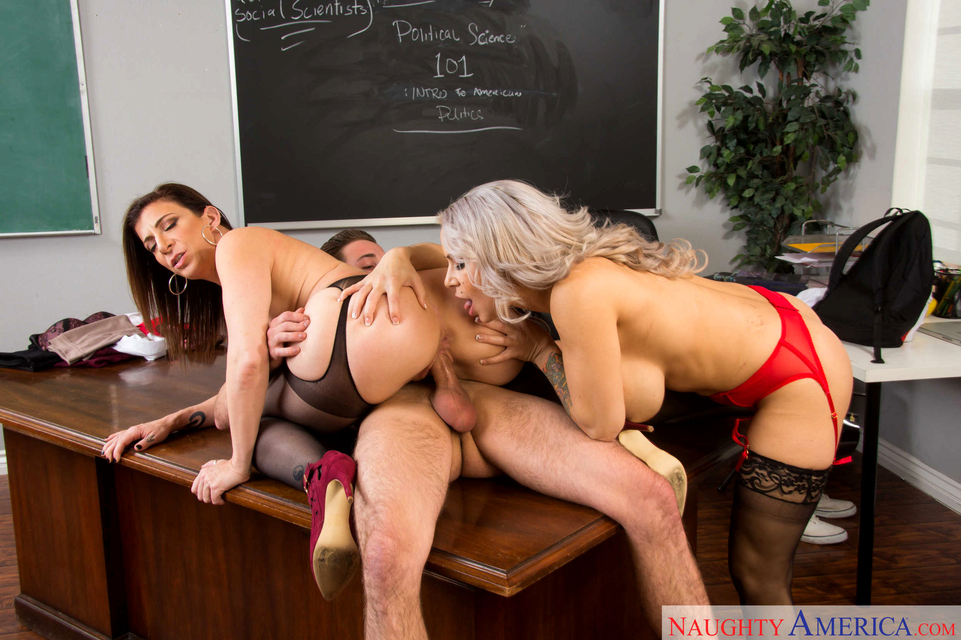 School Fuck With Hot Teacher And Sexy Student