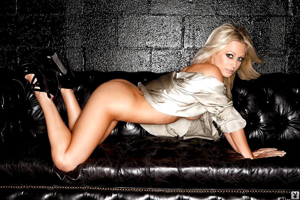 Brittany Barbour Black Couch Playboy Peachyforum 1