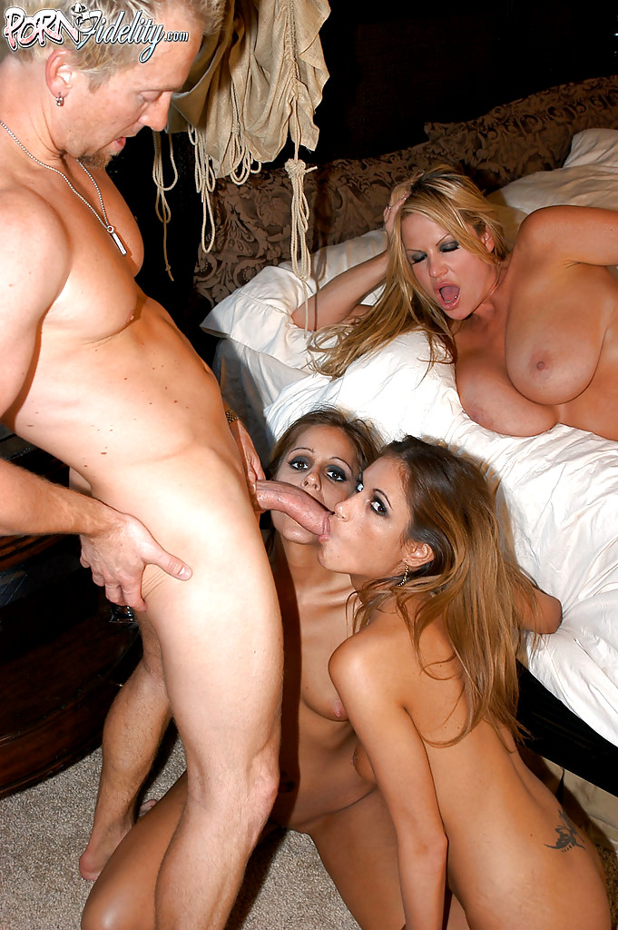 Mom watches daughter do porn
