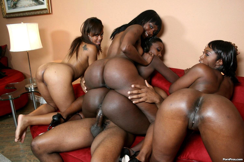 Interracial orgy asian and ebony girls