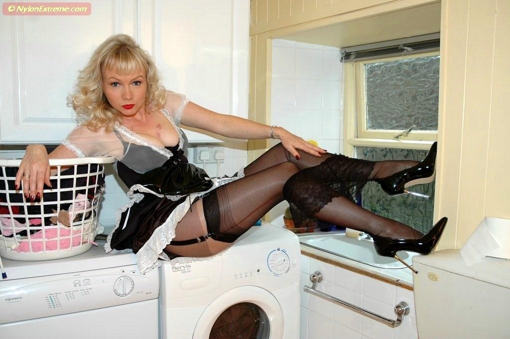 Sue fetish stocking nylon