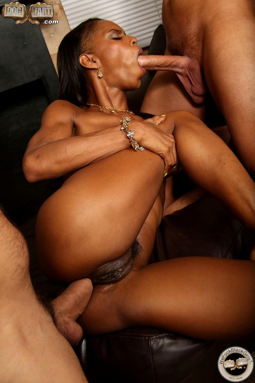 Ebony bbw double penetration