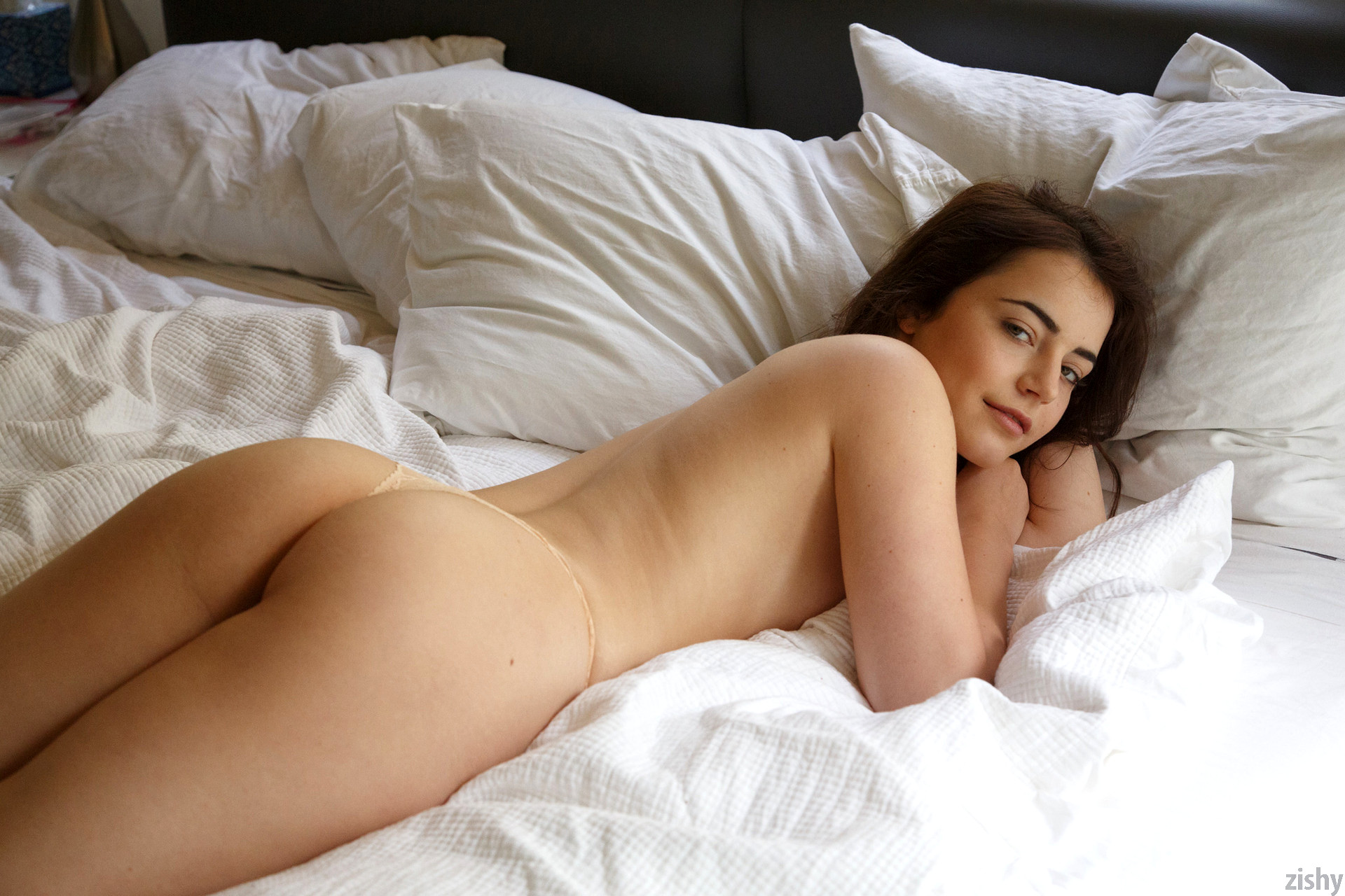 The girls wake up in the comfy bed naked romi and raylene